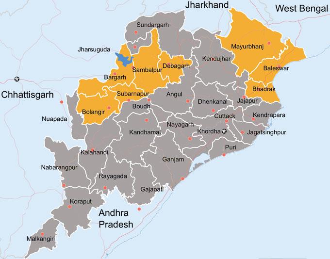 Odisha Map  Patra Tours and Travels