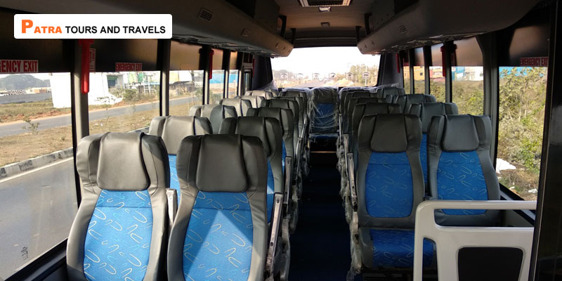 Luxury SML Mini Coach 28 seater - Patra Tours And Travels Interior